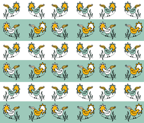 RestrictedBird5-ch-ch fabric by grannynan on Spoonflower - custom fabric