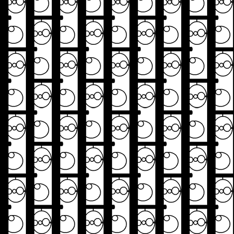 Wrought black on white fabric by nb_design on Spoonflower - custom fabric