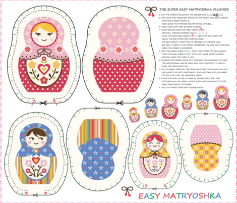 Easy Matryoshka fabric by maeli on Spoonflower - custom fabric