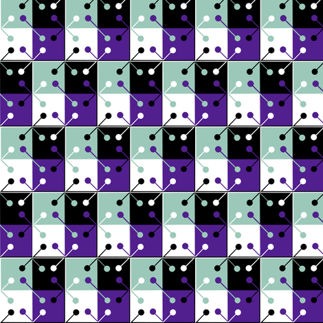 squares and circles fabric by zandloopster on Spoonflower - custom fabric