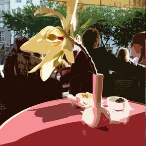 Afternoon at the Cafe, Paris - smaller version