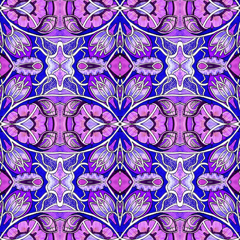Electric Gardening (In Purple We Trust) fabric by edsel2084 on Spoonflower - custom fabric