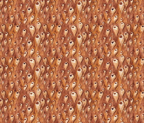 Shells like leather fabric by zandloopster on Spoonflower - custom fabric