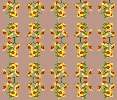 Color Block Snapdragons 2 fabric by robin_rice on Spoonflower - custom fabric