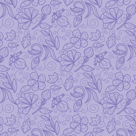 Dewdrop Floral Violet fabric by jillianmorris on Spoonflower - custom fabric