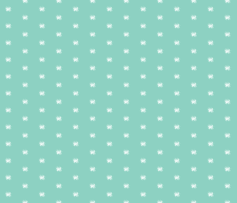 Mint Vintage Bee fabric by sweetzoeshop on Spoonflower - custom fabric