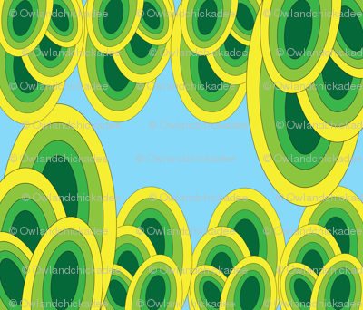 Groovy Iguana - Green and Blue