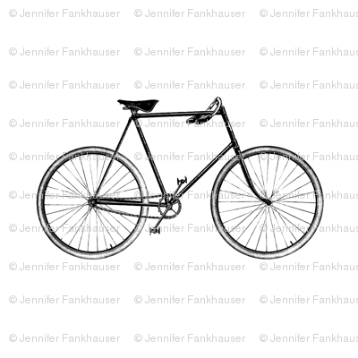 Vintage Bicycle - Black and White
