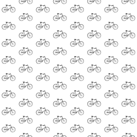 Vintage Bicycle - Black and White fabric by sweetzoeshop on Spoonflower - custom fabric