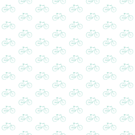 Mint Vintage Bicycle fabric by sweetzoeshop on Spoonflower - custom fabric