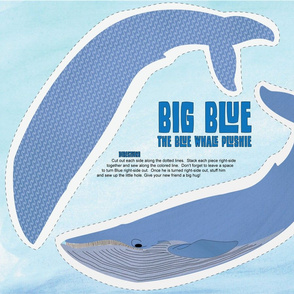 Big Blue - The Blue Whale Plushie