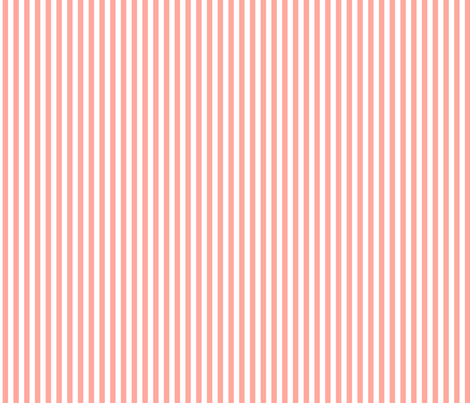 Coral Stripe fabric by sweetzoeshop on Spoonflower - custom fabric