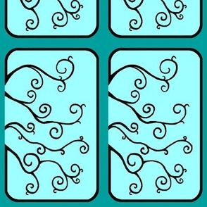 Swirl Tiles in Teal
