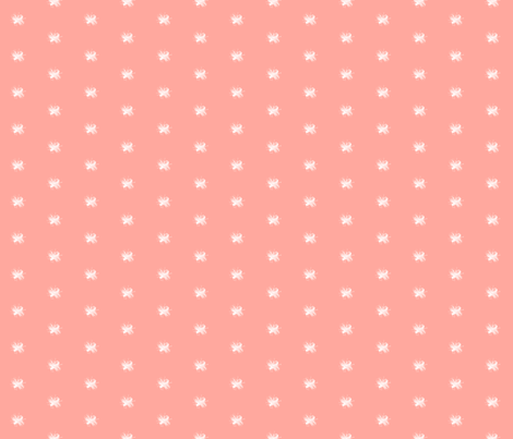 Vintage Bee - Coral fabric by sweetzoeshop on Spoonflower - custom fabric