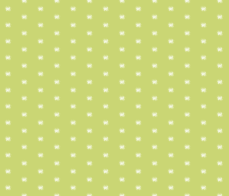 Celery Vintage Bee fabric by sweetzoeshop on Spoonflower - custom fabric