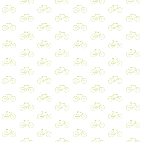 Celery Vintage Bicycle fabric by sweetzoeshop on Spoonflower - custom fabric