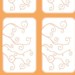 Swirl Tiles in Orange and Peach