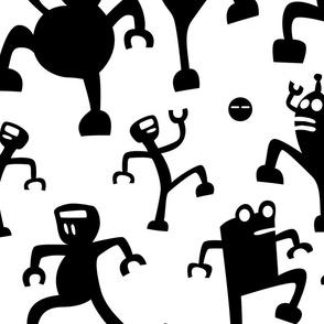 Bouncing Black Robots