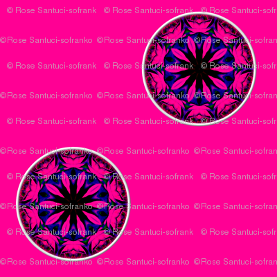 Blue & Pink Rose Kaleidoscope