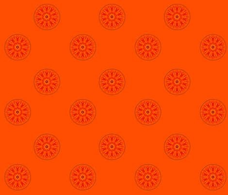 Orange/Apricot Roses Kaleidoscope fabric by artist4god on Spoonflower - custom fabric