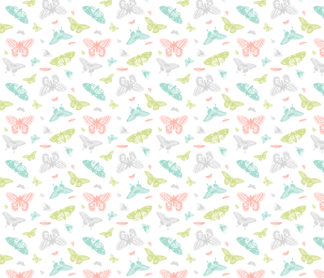 Vintage Butterflies fabric by sweetzoeshop on Spoonflower - custom fabric