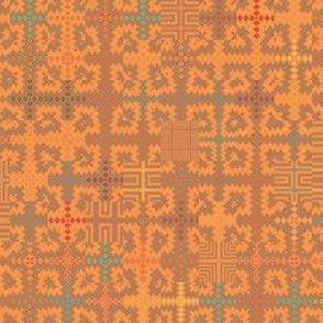 Summer Heat Tapestry Style Geometric