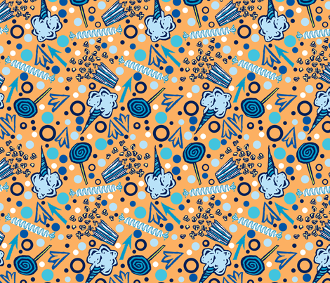 Sweet Treats- Blue fabric by gsonge on Spoonflower - custom fabric