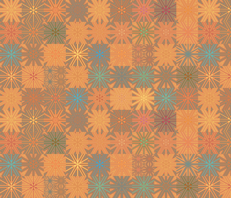 Summer Heat Cheater Quilt  fabric by gingezel on Spoonflower - custom fabric