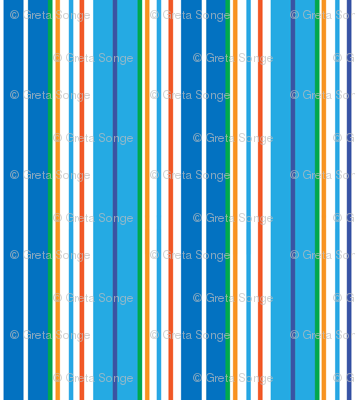 STRIPES- BLUE/ORANGE