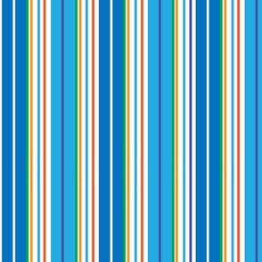 STRIPES- BLUE/ORANGE