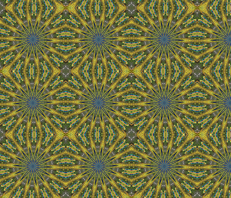 Peacock Kaleidoscope #2 fabric by artist4god on Spoonflower - custom fabric