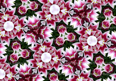Mixed flowers kaleidoscope #2