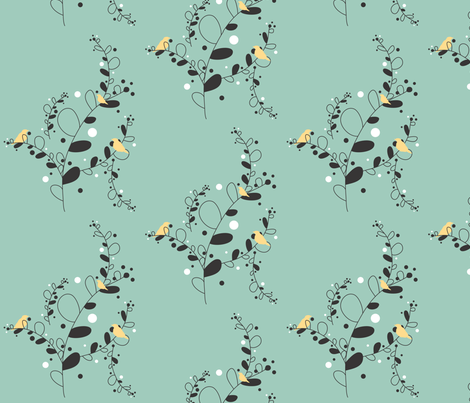 Birds and Branches fabric by audreyclayton on Spoonflower - custom fabric