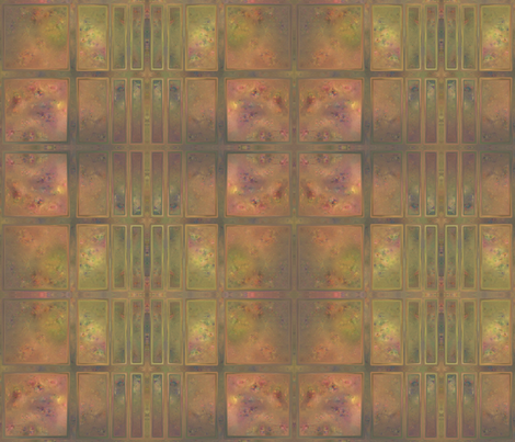 Early Autumn Garden Window Abstract © Gingezel™ 2012 fabric by gingezel on Spoonflower - custom fabric