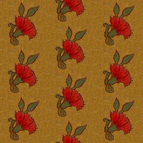 Red Carnation / 9 fabric by paragonstudios on Spoonflower - custom fabric