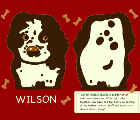 Wilson  fabric by kiwiandsteve on Spoonflower - custom fabric