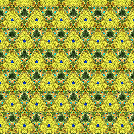 Peacock Kaleidoscope #11 fabric by artist4god on Spoonflower - custom fabric