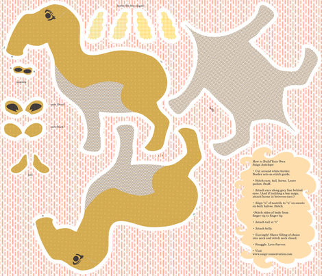 Build A Saiga Antelope fabric by drizzlydaydesignco on Spoonflower - custom fabric