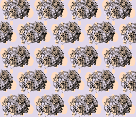 Dotty hydrangea / lilac&peach fabric by pattyryboltdesigns on Spoonflower - custom fabric