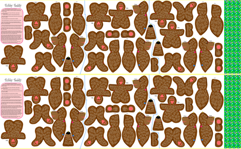 Tubby Teddy Bear 'Plushie' fabric by eclectic_house on Spoonflower - custom fabric