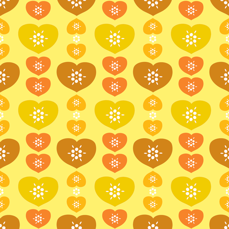 heartfarm-yellow fabric by lilliblomma on Spoonflower - custom fabric