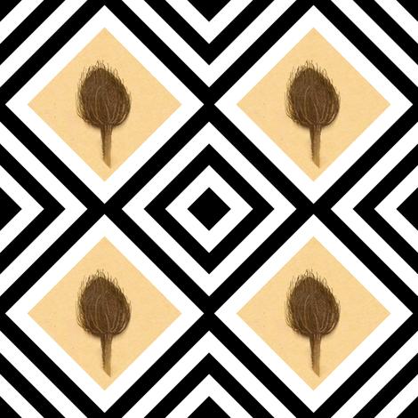 pod b/w fabric by paragonstudios on Spoonflower - custom fabric