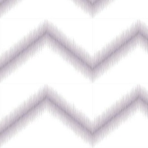 Ikat Zig Zag / Lavender & White