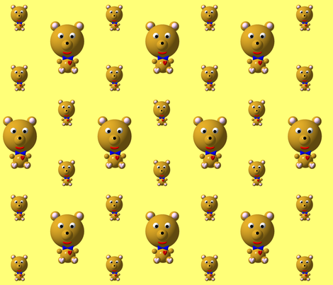 Cute Bear with Bow Tie fabric by artist4god on Spoonflower - custom fabric
