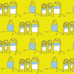 Budgie Family - Yellow