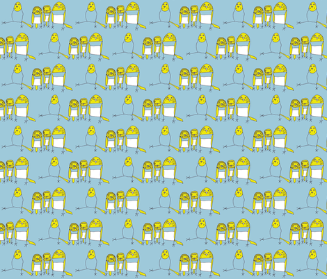 Budgie Family fabric by heartfullofbirds on Spoonflower - custom fabric
