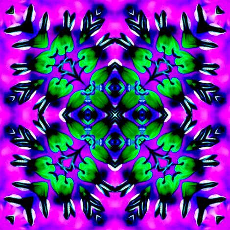 Bleeding Hearts Mandala 3 fabric by dovetail_designs on Spoonflower - custom fabric