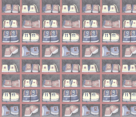 Bowling_shoes fabric by zandloopster on Spoonflower - custom fabric
