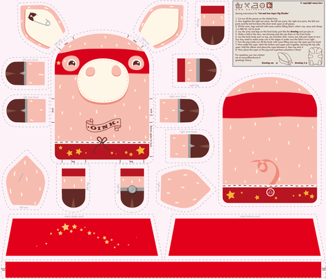 Incredible Super Pig fabric by verycherry on Spoonflower - custom fabric