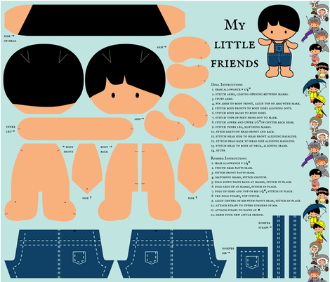 My Little Friends - Dress Up Doll fabric by jmckinniss on Spoonflower - custom fabric